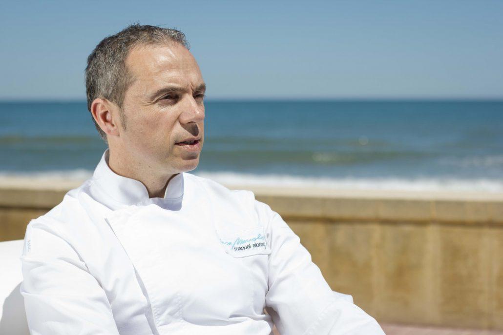 Chef Manuel Alonso restaurante Casa Manolo daimús valencia una estrella michelín