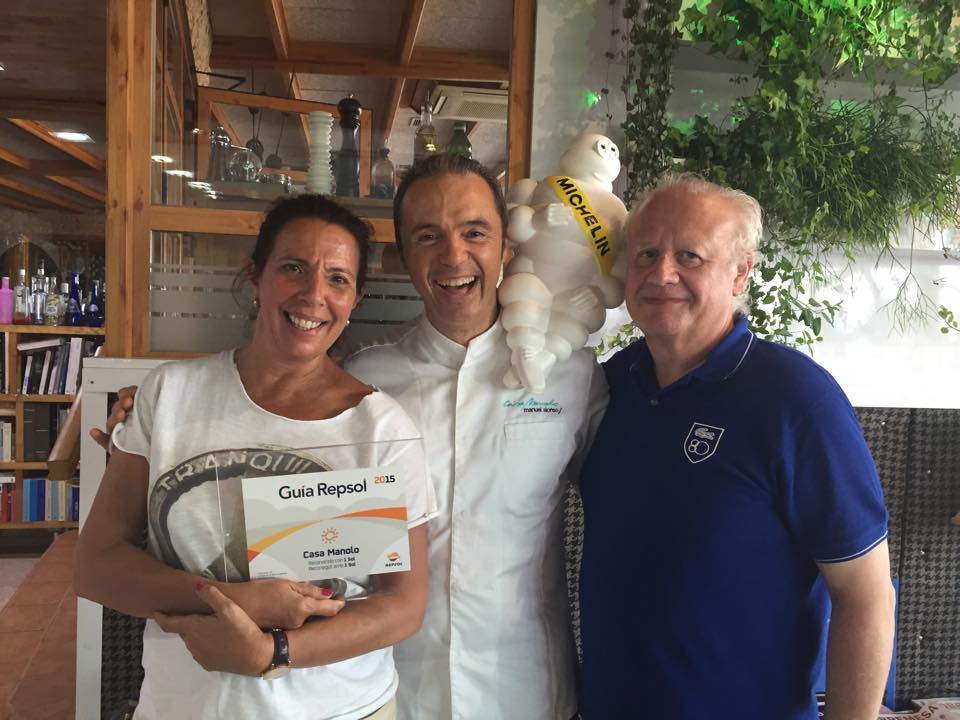 Cuchita Lluch y Juan Echanove. Rte Casa Manolo. Esterlla Michelín. Manuel Alonso Chef