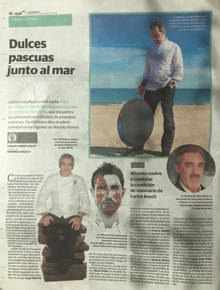 Dulce pascuas junto al mar. Suplemento Las Provincias. Artículo Carlos García Calvo