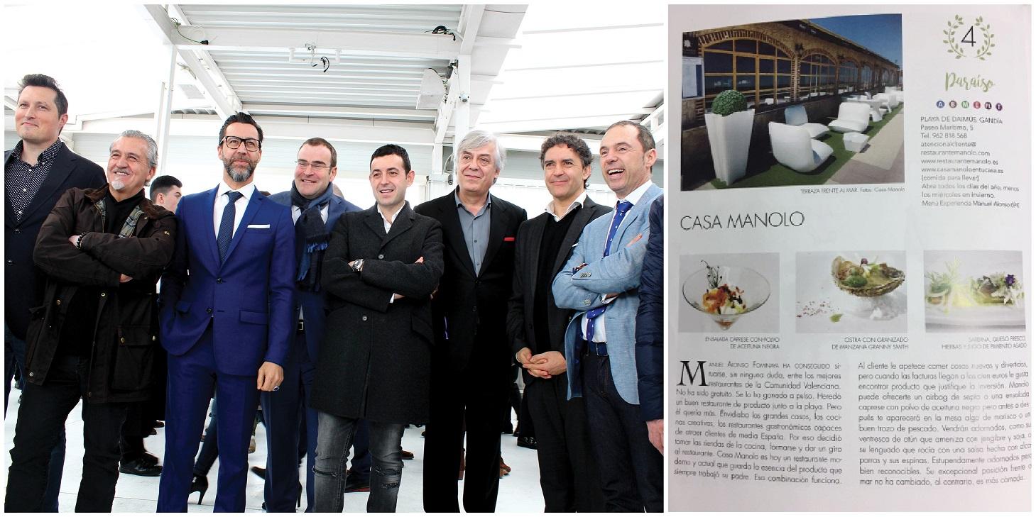 Manuel Alonso, chef de Casa Manolo. Presentación de la X edición del Almanaque Gastronómico de la Comunidad Valenciana 2017