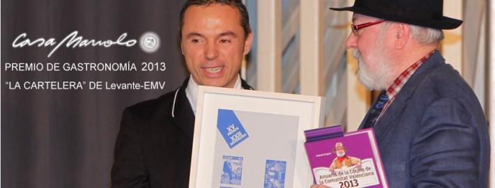 Antonio Vergara y Manuel Alonso en la entrega del premio gastronomía 2013