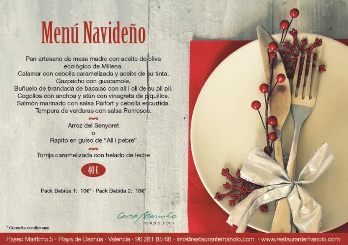 Menú Navideño Restaurante Casa Manolo