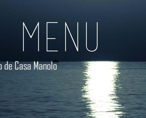 RESTAURANTE CASA MANOLO. ESTRELLA MICHELÍN. Chef Manuel Alonso. Moon Menú