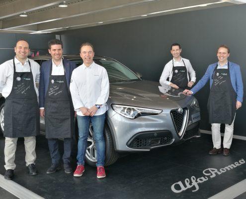 Manuel Alonso chef de Restaurante Casa Manolo embajador de la marca de coches Alfa Romeo