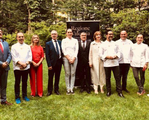 """Evento """"Una experiencia gastronómica cinco estrellas"""" Manuel Alonso, Quique Dacosta, Mª José Lienzo, Begoña Rodrigo, Alejandro Platero, Raul Resino032"""