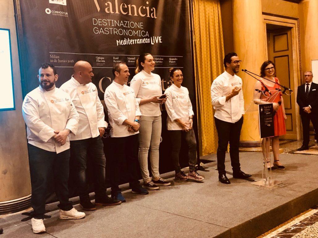 """Evento """"Una experiencia gastronómica cinco estrellas"""" Manuel Alonso, Quique Dacosta, Mª José Lienzo, Begoña Rodrigo, Alejandro Platero, Raul Resino033"""